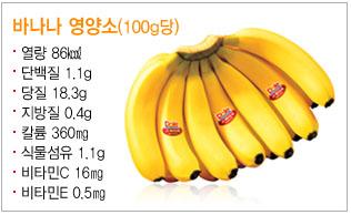 100g 당 바나나 영양소 분석